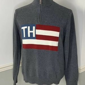 Tommy Hilfiger Mens Sweater Flag And Logo Sz XLT